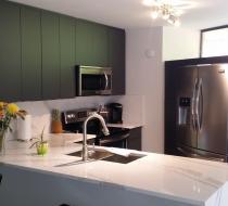 Custom Kitchen Cabinet Grey Flat Modern Style in Fort Lauderdale Florida