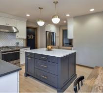 Dark gray Modern kitchen cabinets shaker doors
