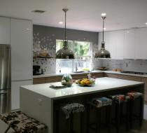 Custom Kitchen Cabinet Flat Style - Miami Beach