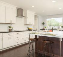 White Shaker Style Custom Kitchen