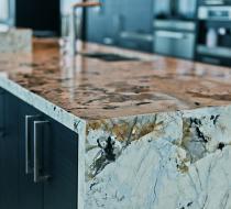 Custom Kitchen with Exotic Granite Countertop